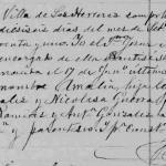 Maria Amalia Gonzalez Guerra – 1891 Baptism in Los Herrera, Nuevo Leon, Mexicos