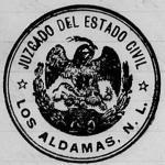 Marriages, Los Aldamas, Nuevo Leon, Mexico 1902 – 1908