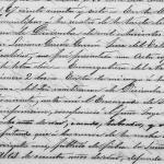 1890 Civil Registry Death Record of Jesusa Gonzalez Cuellar, Arcabuz, Tamaulipas, Mexico