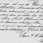1861 Baptism of Jose Demetrio Tanguma Pena Mier, Tamaulipas, Mexico