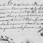 1841 baptism of Juan Tanguma Pena, Purisima Concepcion, Mier, Tamaulipas, Mexico