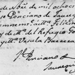 Maria Felicita Guerra Gonzalez, 1836 Baptism In Mier, Tamaulipas, Mexico