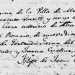 Maria del Rosario de la Garza Garcia, 1826 Baptism In Mier, Tamaulipas, Mexico