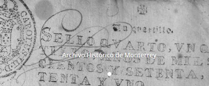 Index to The Archivos Historicos de Monterrey