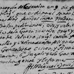 Francisco Javier de la Garza and Maria Guadalupe Felipa Cervera, 1734 Marriage in Cadereyta, Nuevo Leon, Mexico