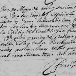 Beatriz Gonzalez 1670 Church Death Record Monterrey, Nuevo Leon, Mexico
