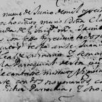 Clara de Renteria, 1668 Church Death Record in Monterrey, Nuevo Leon, Mexico