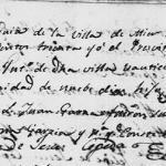 Jose de la Trinidad de la Pena – 1830 Baptism in Mier, Tamaulipas, Mexico