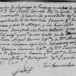 Pablo Tamez Leal and Maria Ygnacia Cavasos Garcia, 1811 Church Marriage Santiago, Nuevo Leon, Mexico