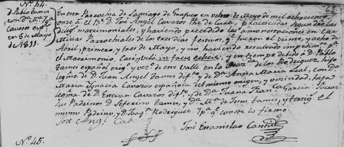 marriage-of-pablo-tamez-and-maria-ignacia-cavazos