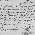 Jose Narciso Perez, 1810 Baptism in Santiago, Nuevo Leon, Mexico