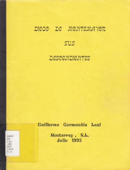Diego de Montemayor Sus Decendientes