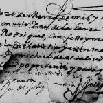 Ines de la Garza, 1690 Church Death Record, Monterrey, Nuevo Leon, Mexico