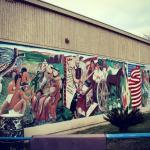 Indians, Padres, Settlers, Ranchers, Farmers, and Education – History in A Mural