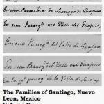 The Families of Santiago, Nuevo Leon, Mexico Volume Five