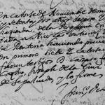1672 Marriage of Nicolas Gutierrez de Lara and Clara Trevino de Renteria Monterrey, Nuevo Leon, Mexico