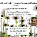 Genealogical Resources at the Brownsville City Cemetery Center