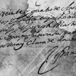 1668 Baptism of Joseph Martinez Guajardo de La Garza, Monterrey, Nuevo Leon, Mexico