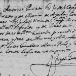 1689 Marriage of Antonio Lopez Prieto and Maria Rodriguez de Montemayor in Monterrey, Nuevo Leon, Mexico