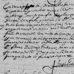 1678 Death Record of Pedro Flores de Abrego in Monterrey, Nuevo Leon, Mexico