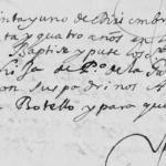 1674 Baptism of Josepha de La Garza Diaz, Monterrey, Nuevo Leon, Mexico