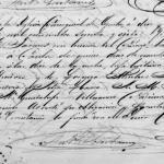 1867 Baptism Record of Paula Mendoza Mireles in Ojuelos, Jalisco, Mexico