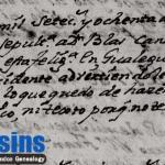 1780 Church Death Record of Blas Canales Benavides in Cerralvo, Nuevo Leon, Mexico