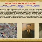 Real Starr Website, A Great Genealogical Resource