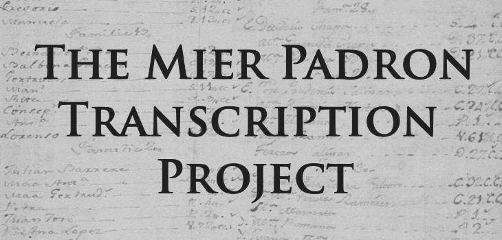 The Mier Padron Transcription Project