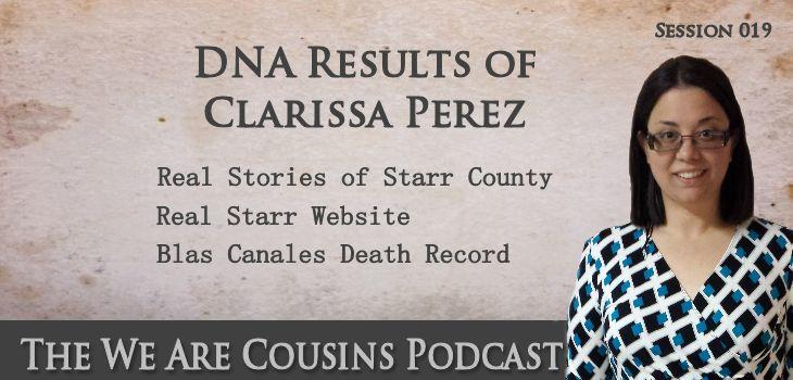 WAC-19: DNA Results for Clarissa Perez