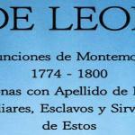 DE LEON: Defunciones de Montemorelos 1774 – 1800 by Juan Jesus de Leon