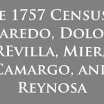 Book on the 1757 Censuses of Las Villas Del Norte