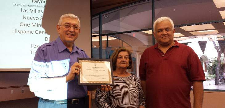 Mario Davila Receiving Certificate