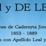 Leal y De Leon: Defunciones de Cadereyta Jimenez N. L. 1853 – 1889