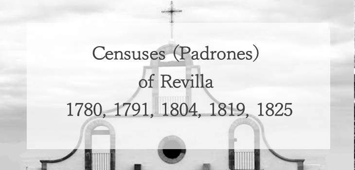 Censuses (Padrones) of Revilla 1780, 1791, 1804, 1819, 1825