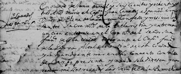 Juan Cavazos FamilySearch N.L. Monterrey Death Record 1683 Pg 24 part 1-600