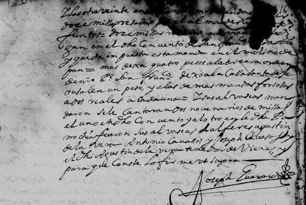 Juan Cavazos FamilySearch N.L. Monterrey Death Record 1683 Pg 24 part 2-600