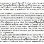 The mtDNA of Maria Cayetana Flores Valdez
