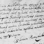 1699 Baptism of Maria Ysabel Juana Guajardo in Monterrey, Nuevo Leon, Mexico