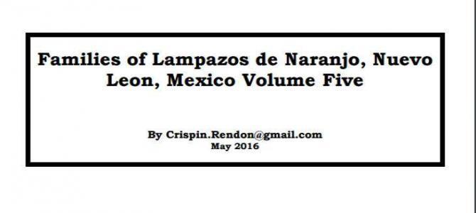 Families of Lampazos, Nuevo Leon, Mexico Volume Five