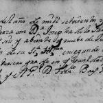 1707 Marriage of Clemente de la Garza Falcon and Josefa Catalina de la Garza in Monterrey, Nuevo Leon, Mexico