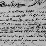 1721 Church Death Record of Leonor Renteria in Monterrey, Nuevo Leon, Mexico