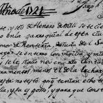 1721 Church Death Record of Leonor Renteria in Monterrey, Nuevo Leon, Mexico