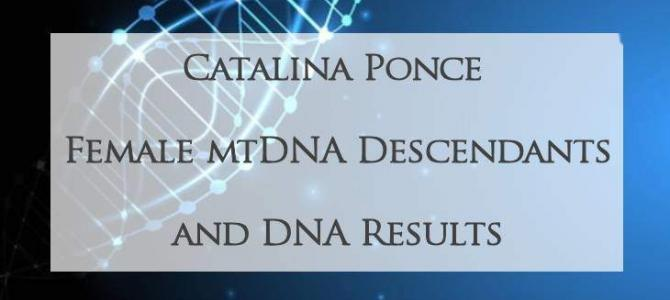 MtDNA of Catalina Ponce