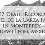 1697 Church Death Record of Miguel de la Garza Falcon in Monterrey, Nuevo Leon, Mexico