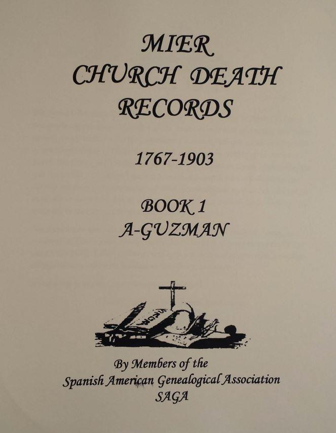 Mier Church Death Records