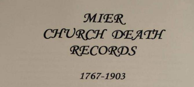 Mier Church Death Records 1767 – 1903