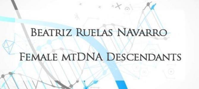 Female mtDNA Descendants of Beatriz Ruelas Navarro