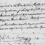 1783 Baptism of Maria Barbara Rios in Montemorelos, Nuevo Leon, Mexico