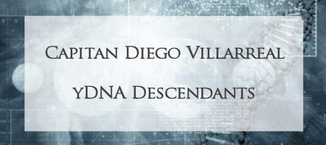 YDNA Descendants of Diego Villarreal